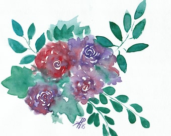 Original Watercolour A4 Painting