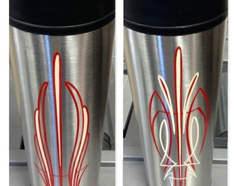 Hand Painted Stainless Coffee Travel Mugs