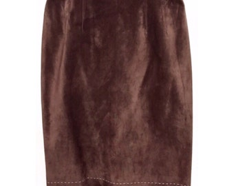 CELINE leather suede skirt, size 12 US, absolutely stunning!