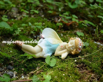 miniature fairy garden Blue Bonnet Fairy Terrarium garden accessory