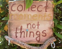Wooden key holder, key organizer, handmade sign, wall hanging storage, quote sign, wall hook, brown sign, hooks & fixtures, pallet sign