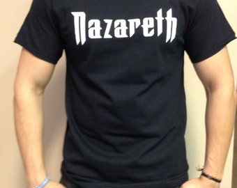 Nazareth T-shirt 100 % Cotton and 1 stisker Free