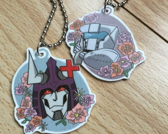 Cyclonus and Tailgate Split charm