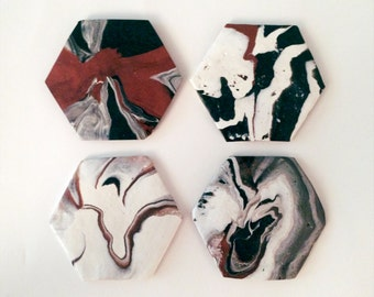 Bronze Clay Marble Coasters | Classic Collection