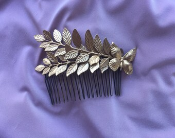 Double Leaf Butterfly Comb