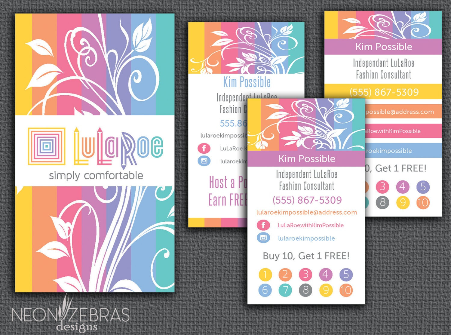 Lularoe business card home office approved by for Lularoe buisness cards