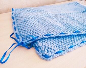 Handmade Soft Crochet Blanket Gift for Baby Handmade Knitted