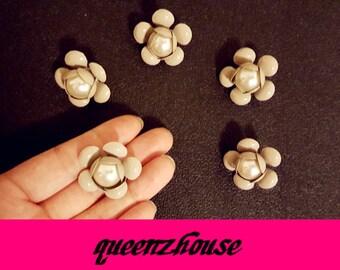 5pcs rhinestone hair clip buttons