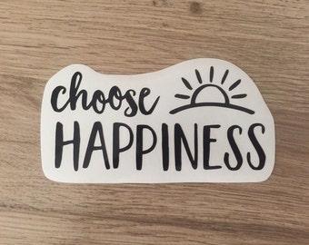 Choose Happiness Vinyl Laptop Car Decal