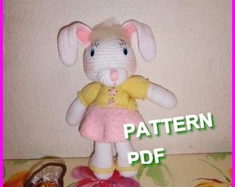 Pattern, french boss, the louane rabbit tutorial