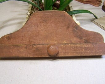 Rustic Wooden Hanger By Homestead Needleworkes