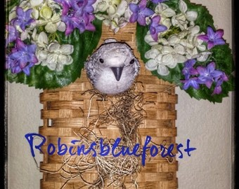 Birdhouse Hanging Basket B0001