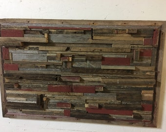 Barnwood textured wall art