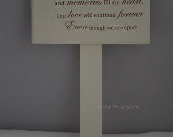 SISTER MEMORIAL STICK, Graveside memoriel Marker Tribute   F0898G