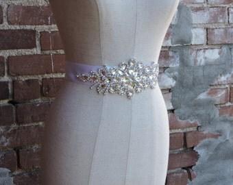 Crystal Rhinestone Belt-Bridal Belt-Bridal Sash-Embellished Belt-Bridesmaid Belt-Megan