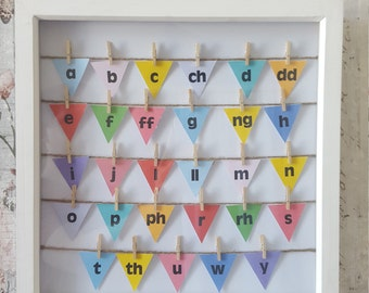 Welsh Alphabet Bunting