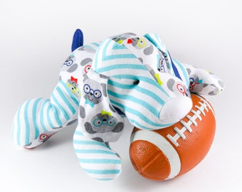 Stuffed Dog made with your baby's hospital blanket or your favorite PJ's