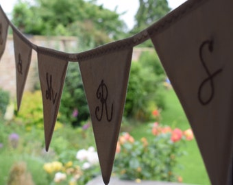 Extra embroidered letters for bunting