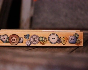 Rubber Stamp: Row of Buttons