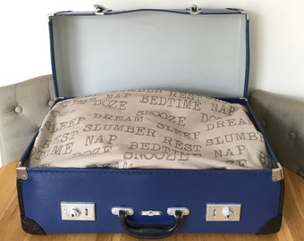 Up-cycled Vintage Suitcase Dog / Cat / Pet bed