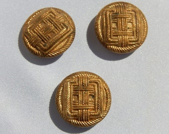Czech old golden buttons
