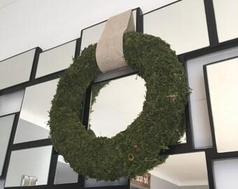 Faux Moss Wreath