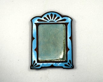 Miniature Enameled Art Deco Picture Frame