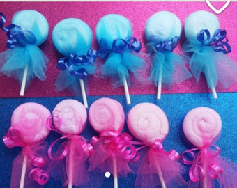 Washcloth lollipop