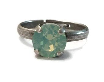 8mm Solitare Swarovski Crystal Ring