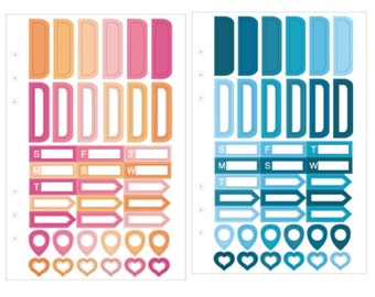 Ready Stock Planner Sticker Sheets