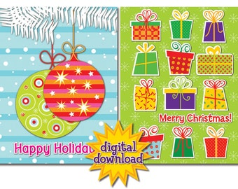 Assortment of 8 Colorful Christmas/Holiday Cards #5