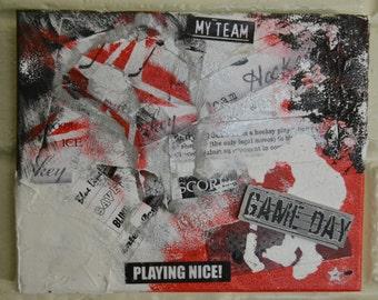 "Hockey 10""x8"" Canvas"