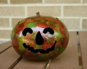 Decorative Gourd Jack-o-Lantern