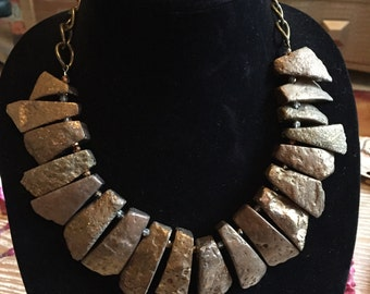 Gold Stone Statement Necklace
