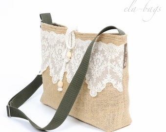 Boho linen bag with tip