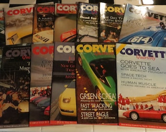 SALE!!! 50% off.  Corvette Quarterly Magazines, 13 issues, 1991-1994