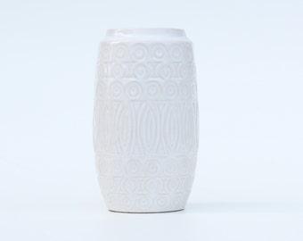 White ceramic vase Scheurich 264-18 West Germany