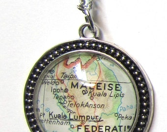 World map necklace - Asia variations