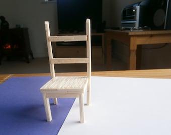 A matchstick model of a chair.