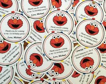 Set of 12 Elmo Thank You Tags
