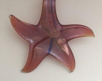 Star glass pendant