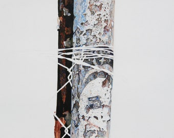 Two fence posts - print