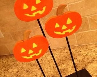 Reclaimed wood, rustic, Halloween Pumpkin decor