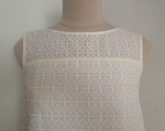 A-line dress. Cotton dress. XS