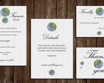 Printable Wedding Invitation Kit - Customizable Wedding Invitations - DIY Wedding Invitation Set