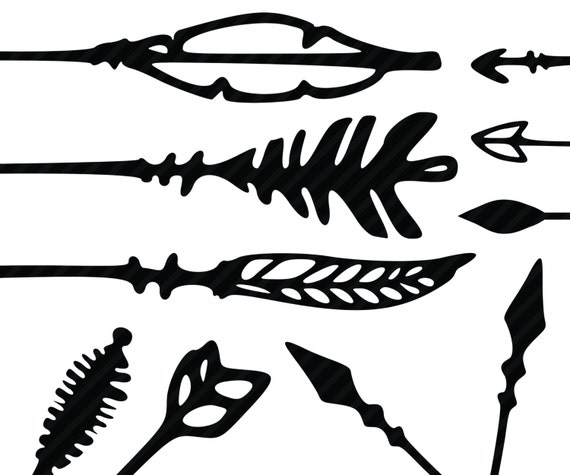 80 Until New Year Arrows Clipart Hand Drawn Arrows