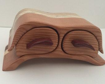 Handmade Australian wood 2 drawer jewelry /trinket box