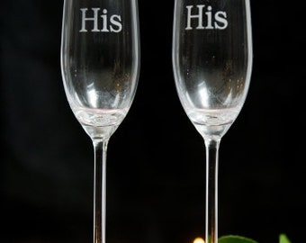 His and His Champagne Flutes