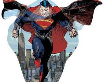 """Superhero Balloon-32"""" Large Balloon- Superman Birthday Party-Superman Balloon"""