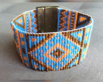 Woven Cuff Bracelet beads Miyuki